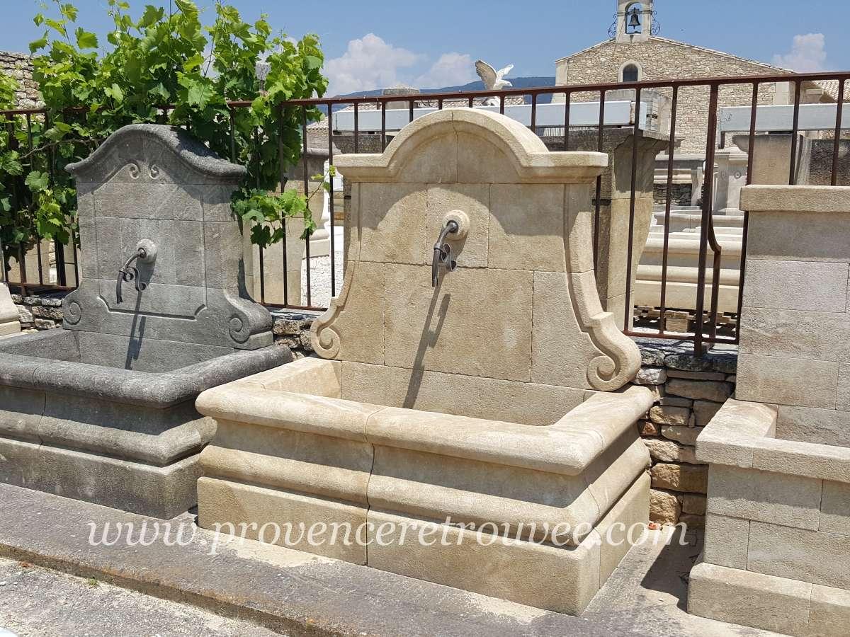 Fontaine de jardin en pierre de fabrication artisanale fon09 140 - Fontaines de jardin murales ...