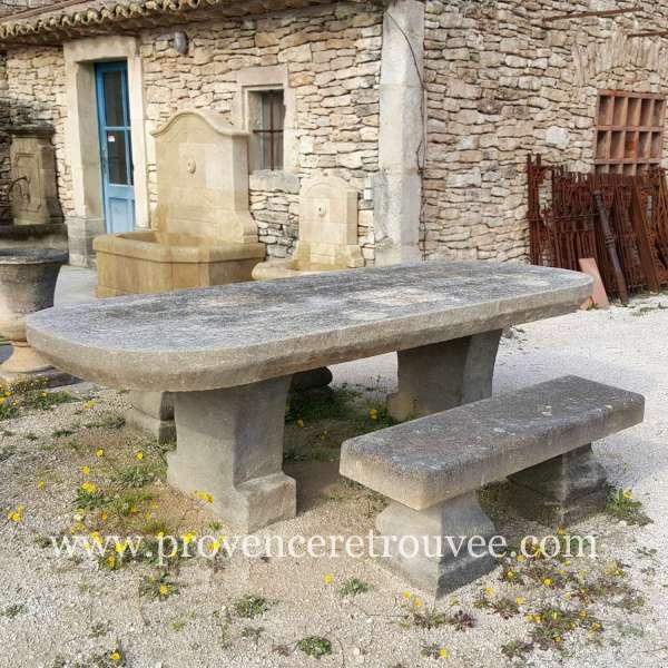 Bancs Et Table De Jardin En Pierre Naturelle