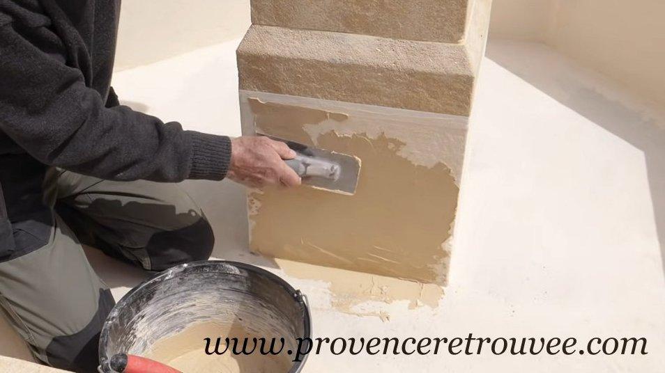Tanch it de fontaine avec cimbacim et durcistop for Le beton cire est il etanche